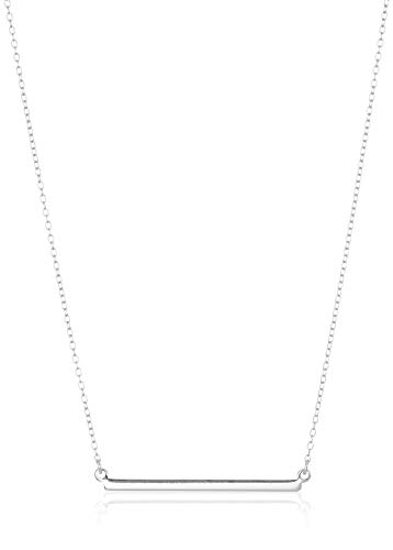 Amazon Collection Sterling Silver Horizontal Bar Necklace, 18'