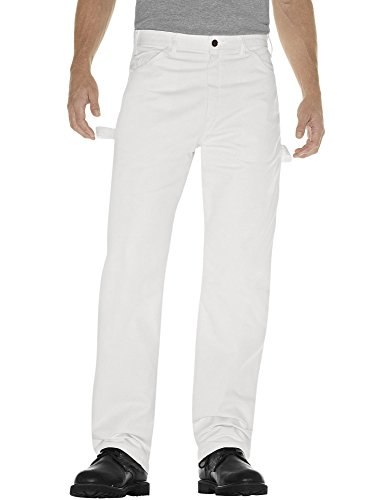 Dickies Men's Painter's Utility Pant Relaxed Fit, White, 32x30