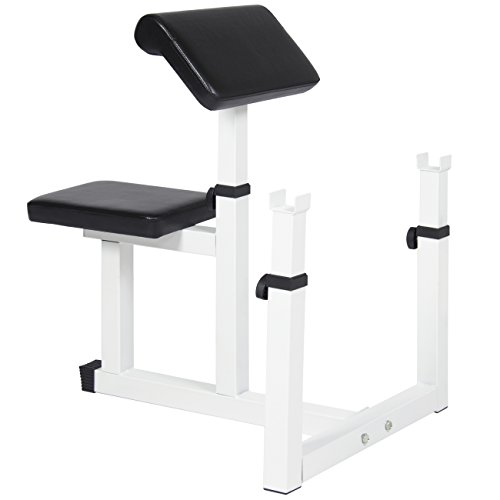 Best Choice Products Adjustable Preacher Arm Curl Bench Home Gym