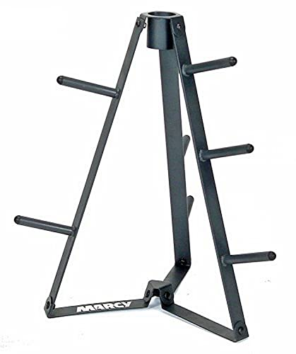 Marcy Plate Tree for Standard Size Weight Plates/Storage Rack for Exercise Weights PT-36 dark grey, 34.00 x 9.00 x 4.00'