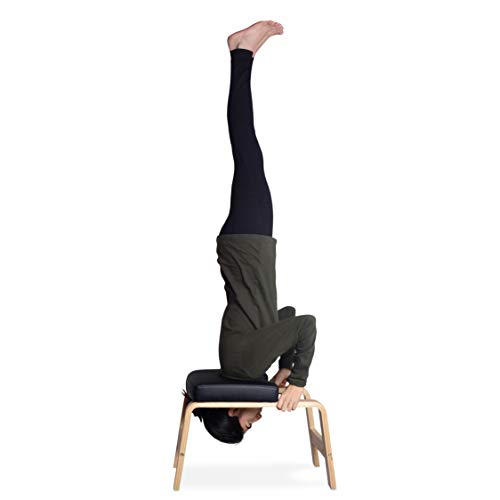 Milliard Yoga Headstand Bench with Manual, Inversion Chair Trainer, Gym Workout Stool