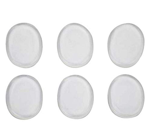 6 Sheet 36PCS Round Silicone Gel Blister Shoe Pads Soft Self Adhesive Spot Pad Insert Stickers for Foot Pain Heel Bunions Corns Calluses(Value Pack)
