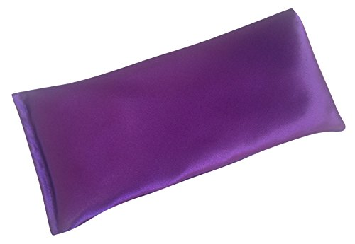 AyaZen Lavender Eye Pillow- Silky Eye Pillow for Yoga, Meditation Relaxation. This Eye Mask Is Perfect for Sleeping. Made of Lavender Flowers Organic Flax Seed. Get One for Yourself or As a Gift.