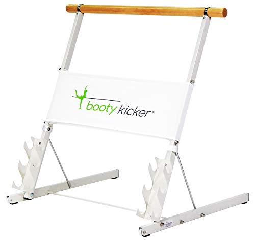 Booty Kicker – Home Fitness Exercise Barre, Folds Flat, Portable, Storable, Strong Angular Design for Pushing, Pulling, Balance & Ballet Exercises, Perfect for Barre Workouts