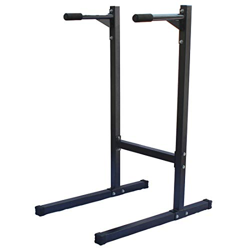 KLB Sport Heavy Duty Dipping Station Dip Stand Parallel Bar Bicep Triceps Home Gym, 500lb Capability