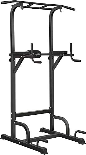 BangTong&Li Power Tower, Pull Up Bar Dip Station/Stand for Home Gym Strength Training Workout Equipment Newer Version