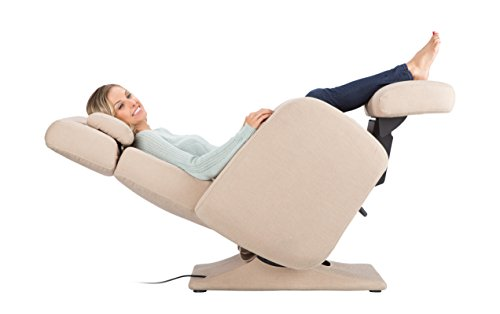 Human Touch Perfect Chair PC-8500 Fully Upholstered Tweed PRO Zero Gravity Recliner, Flax