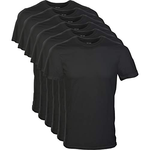 Gildan Men's Crew T-Shirt Multipack, Black, 2X-Large