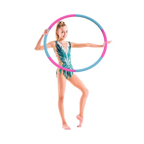 The Toyagator Hula Hoop for Kids, Pink & Blue 6 Section Premium Quality Fitness Hoola Hoops Toy, Detachable & Size Adjustable Suitable for Fun Exercise, Dance, Girls, Boys & Pet Training.