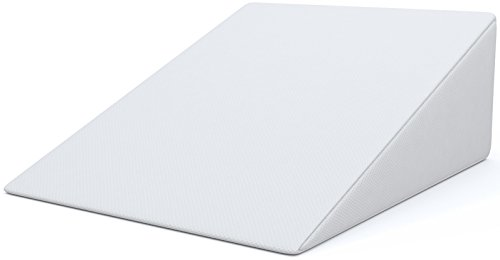Bed Wedge, FitPlus Premium Wedge Pillow 1.5 Inches Memory Foam 2 Year Warranty, 24' x 28' x 7.5' Acid Reflux Pillow with Removable Cover Dr Recommended for Snoring and Gerd … (24' x 28' x 7.5')
