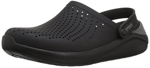 Crocs Men's and Women's LiteRide Clog, Casual Athletic Shoe with Extraordinary Comfort Technology, Black/Slate Grey, 8 US Women / 6 US Men