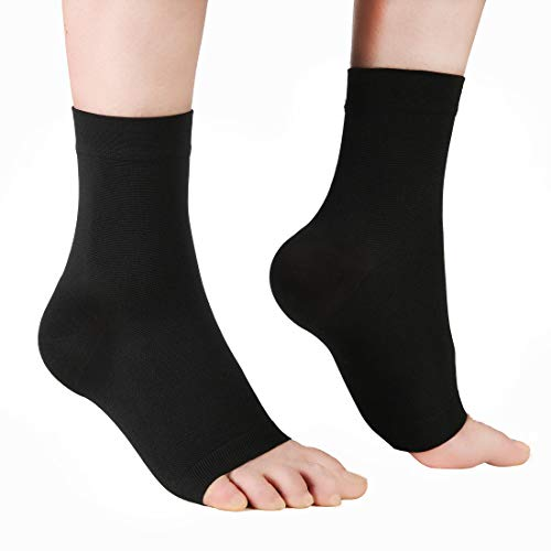 Compression Foot Sleeve Socks for Men & Women - Plantar Fasciitis Socks for Injury Recovery, Arch Support, Pain Relief, Foot & Ankle Swelling, Heel Spurs, Joint Pain, 1 Pair