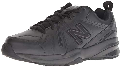 New Balance Men's 608 V5 Casual Comfort Cross Trainer, Black/Black, 10.5 W US