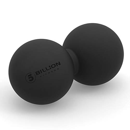 5BILLION Peanut Massage Ball - Double Lacrosse Massage Ball & Mobility Ball for Physical Therapy - Deep Tissue Massage Tool for Myofascial Release, Muscle Relaxer, Acupoint Massage (Black)