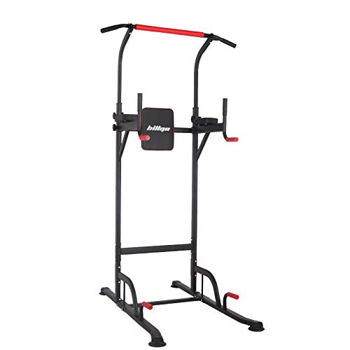 Polar Aurora Power Tower Workout Dip Station for Home Gym Strength Training Fitness Pull Up Dip Station Exercise Equipment