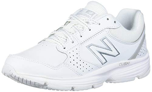 New Balance womens 411 V1 Walking Shoe, White/White, 8.5 US
