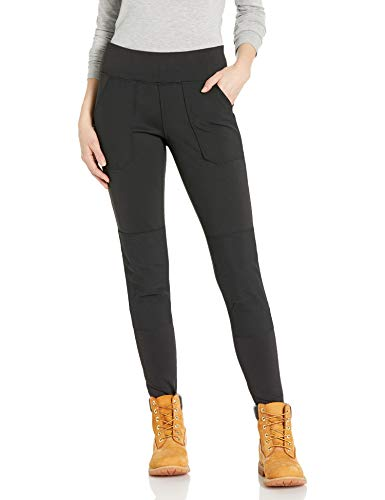 Carhartt Women's Force Stretch Utility Legging (Regular and Plus Sizes), Deep Black, Small