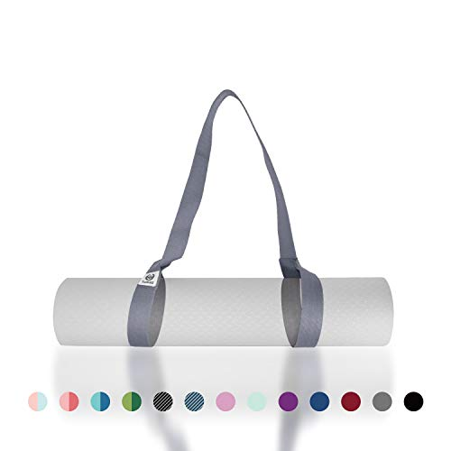 Tumaz Yoga Mat Strap, 2-in-1 Adjustable Sling - Mat Carrier & Stretching Strap (15+ Colors, 2 Sizes Options) with Extra Thick, Durable and Comfy Delicate Texture [Mat NOT Included]