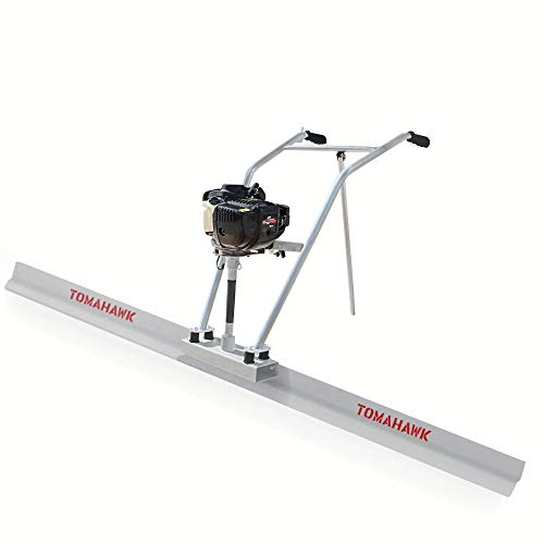 TOMAHAWK 37.7cc Gas Concrete Power Screed Cement Finishing Vibrating Motor with 12ft Aluminum Board Straight Edge Bar Set