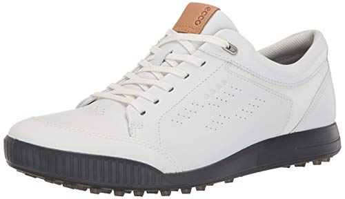 ECCO Men's Street Retro Hydromax Golf Shoe, Bright White, 44 M EU (10-10.5 US)