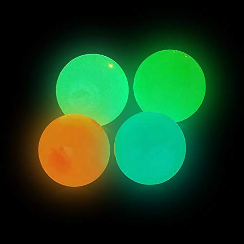 Holzkary Sticky Wall Balls Stress Balls Glowing Decompression Toys Balls Target Ball, Tear-Resistant Fun Toy, Stick to The Wall Slowly Fall Off, Stress Relief Balls for Kids Adults (4.5cm)