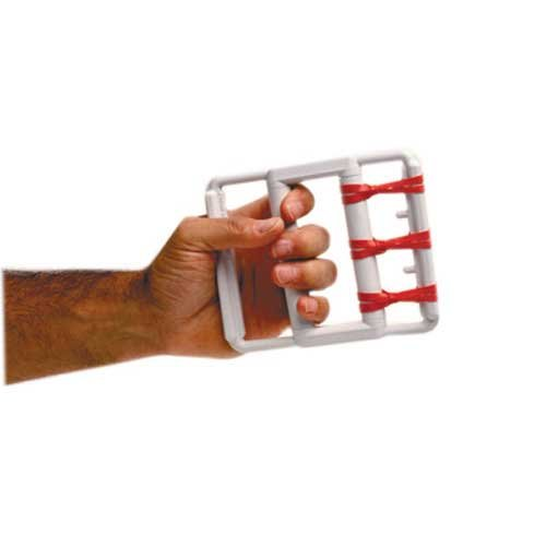 FEI 10-0800 Rubber Band Hand Exerciser with 5 Red Bands, Light, Latex