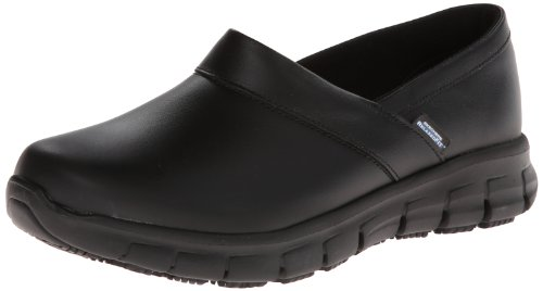 Skechers for Work Women's Relaxed Fit Slip Resistant Work Shoe