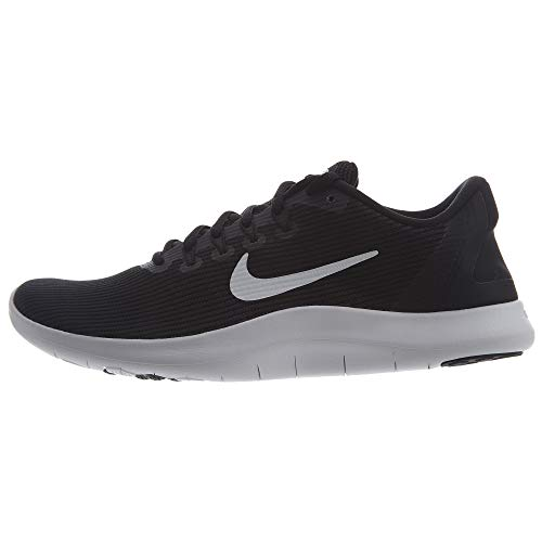 Nike Womens Flex Rn 2018 Fabric Low Top Lace Up Running Sneaker (8), Black / White / Black, 8