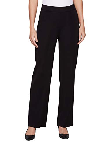 MISOOK Wide Leg Pant, Pull On Closure, Machine or Hand Wash Cold, Imported - Black (L)