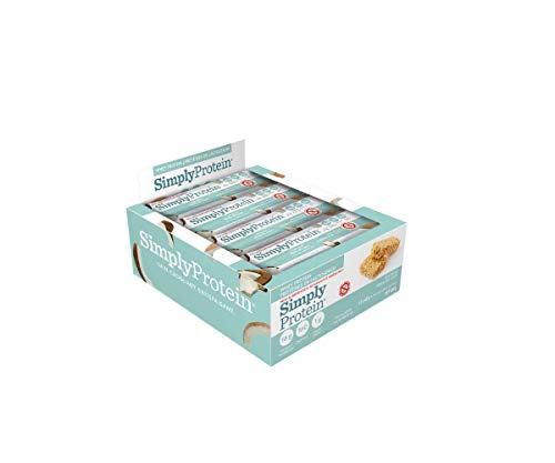 SimplyProtein Whey Bar, Coconut, Gluten-Free - (1.4 oz, Pack of 12)