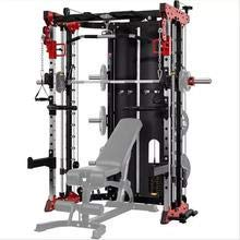 Commercial Home Gym - Smith Machine, Cables with Built in 160 kg Weights (Standard Red)