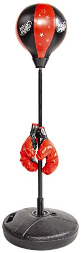 BalanceFrom Punching Bag with Base for Kids 3-10 Easy to Assemble with Boxing Gloves
