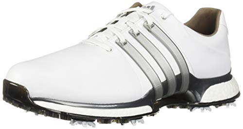adidas Men's TOUR360 XT Golf Shoe, FTWR White/Silver Metallic/Dark Silver/Metallic, 10 M US