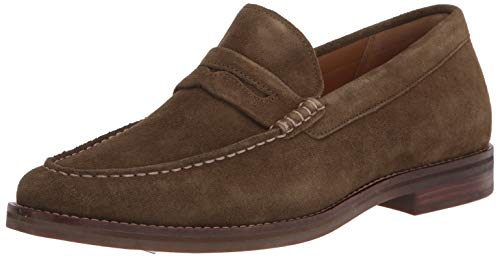 Sperry Men's Gold Cup Exeter Suede Penny Loafer, Olive, 11 Wide