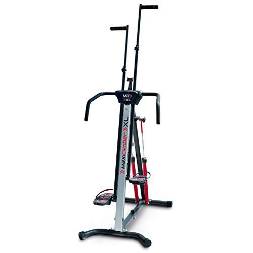 MaxiClimber XL-2000 Hydraulic Resistance Vertical Climber. Combines Muscle Toning + Aerobic Exercise for Maximum Calorie Burn. 12 Resistance Levels, Lightweight Aluminum Mainframe, Free Fitness App.