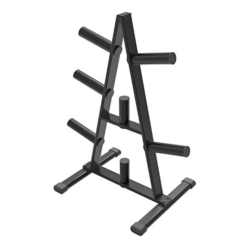 Cozy Castle Olympic Weight Plate Rack, A Frame Weight Plate Tree for 2 inch Plates, Durable Triangle Plate Racks for Home Gym, Weights Holder Tree, Home Workout Dumbbell Rack Storage Stand