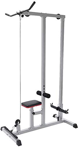 Heavy Duty Pulldown and Low Row Cable Machine,Home Gym Body LAT Pull Down Machine Low Bar Cable Fitness Training Weigh for Home/Office/Gym