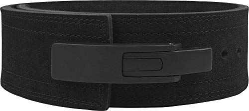 Hawk Sports Lever Belt Black Genuine Leather Powerlifting Men & Women Power Lifting 10mm Weightlifting Belt! (Black, Small)