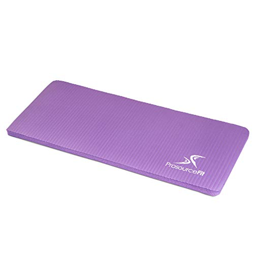"""ProsourceFit Yoga Knee Pad and Elbow Cushion 15mm (5/8"""") Fits Standard Mats for Pain Free Joints in Yoga, Pilates, Floor Workouts, Purple"""
