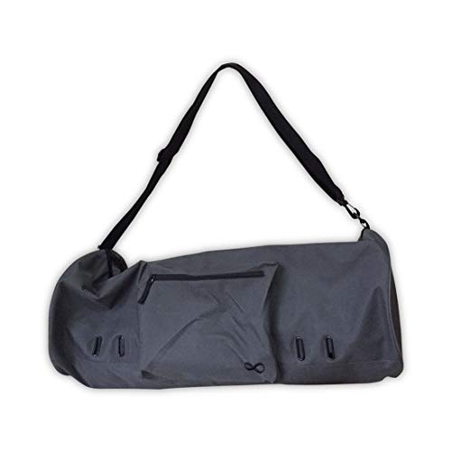 YogaAddict Yoga Mat Bag 'Compact' (Extra Large) With Pocket, Fit 15mm Yoga Mat Size, 29' Long, Easy Access - Dark Grey