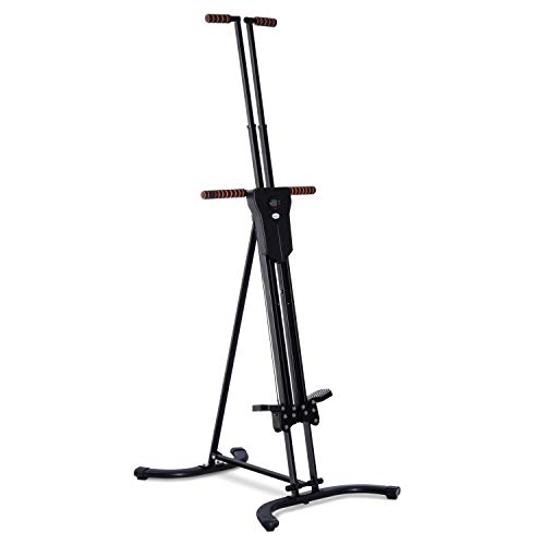 Soozier Folding Adjustable Step Machine Vertical Climber Exercise Fitness Equipment for Home Gym Cardio Climbing System