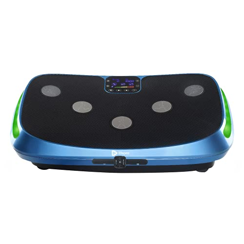 LifePro Rumblex 4D Vibration Plate Exercise Machine - Triple Motor Oscillation, Linear, Pulsation + 3D/4D Vibration Platform   Whole Body Vibration Machine for Home, Weight Loss & Shaping. (Blue)