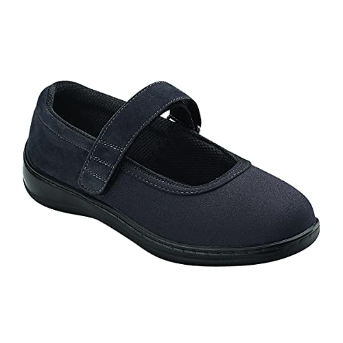 Orthofeet Proven Bunions, Foot Pain Relief. Extended Widths. Orthopedic Diabetic Arch Support Women's Mary Jane Shoes Springfield Black