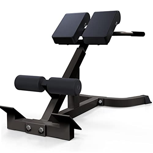 QAZQ 45 Degree Back Hyper Extension Roman chair, Adjustable Height Sit up Board Weight Bench Abdominal Trainer Hyperextension Back Machine for Home Gym Fitness Core Exercise Strength Training Workout
