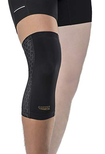 Copper Fit Freedom Knee Compression Sleeve, Black, Large