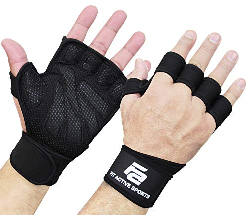 New Ventilated Weight Lifting Workout Gloves with Built-in Wrist Wraps for Men and Women - Great for Gym Fitness, Cross Training, Hand Support & Weightlifting.