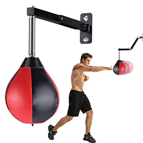 Speed Bag Boxing Punching Bag Wall Mount Height Adjustable Boxing Reflex Ball Speed Bag for Boxing Boxing Gear for MMA Karate Taekwondo Equipment for Adults Kids