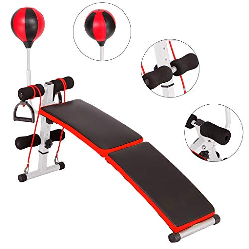Adjustable Weight Bench Foldable Strength Training Sit Up Bench,Weightlifting Multi-Workout Abdominal/Hyper Back Extension Bench Slant Board Sit Up Bench Crunch Board Bench For Indoor Home Use (A)