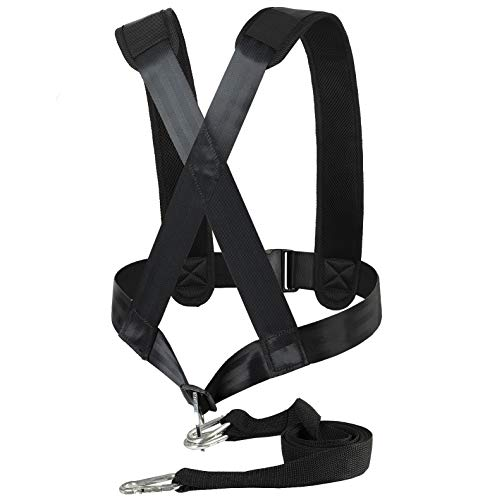 Aedericoe Sled Harness Tire Pulling Harness Adjustable Padded Shoulder Harness Strength Training Equipement with Pulling Strap