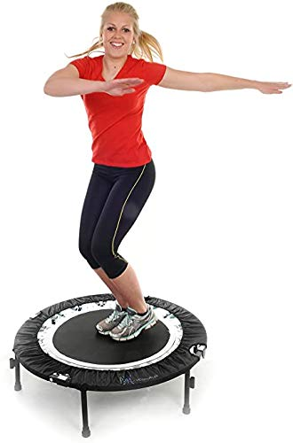 Maximus Life Bounce & Burn Foldable Indoor Mini Trampoline Rebounder USA for Adults   Fun Way to Lose Weight and get FIT! Plus Rebounding Exercise DVD   Optional Handle Bar   Already Assembled